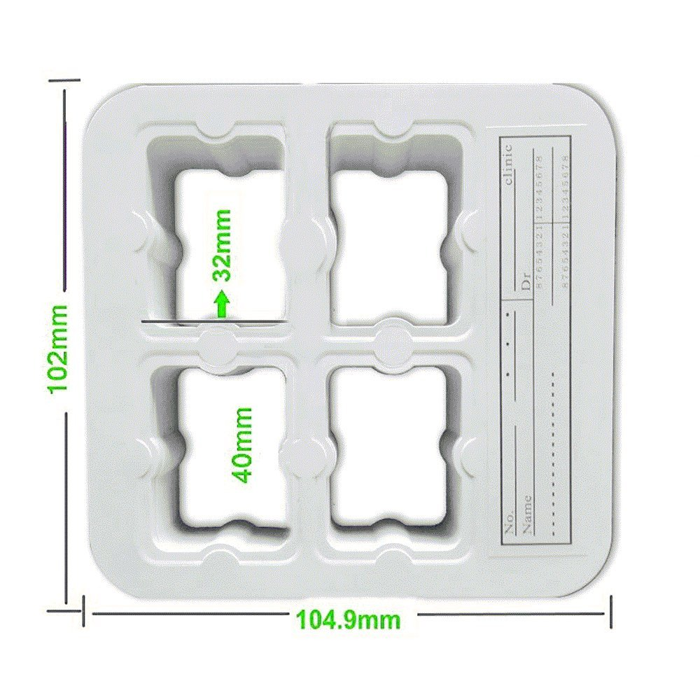 Finlon 200pcs Dental Universal X-Ray Film Mount Frame 4-holes type White Color