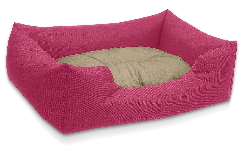 BedDog colchón para Perro Mimi S hasta XXXL, 26 Colores, Cama, sofá, Cesta para Perro, M Rosa/Beige