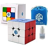 GAN 356 R S Speed Cube Gans 356R 3x3 Stickerless Gan356 RS Bundle Including Bonus Gan Bag and a Cube Stand