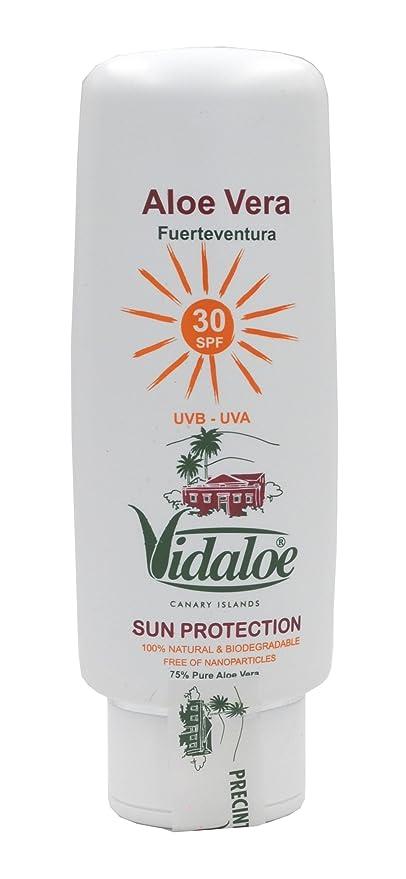 Vidaloe Protección Solar con Aloe Vera SPF30 100 mililitros ...