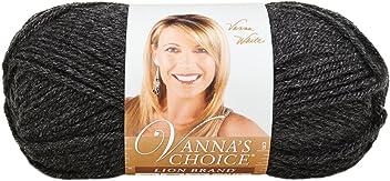Lion Brand Yarn 860-404E Vanna's Choice Yarn, Dark Grey Heather