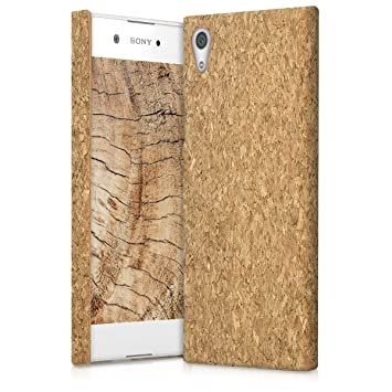 kwmobile Funda para Sony Xperia XA1 - Carcasa Protectora de [Corcho] para teléfono móvil - Cover [Trasero] rígido y Resistente