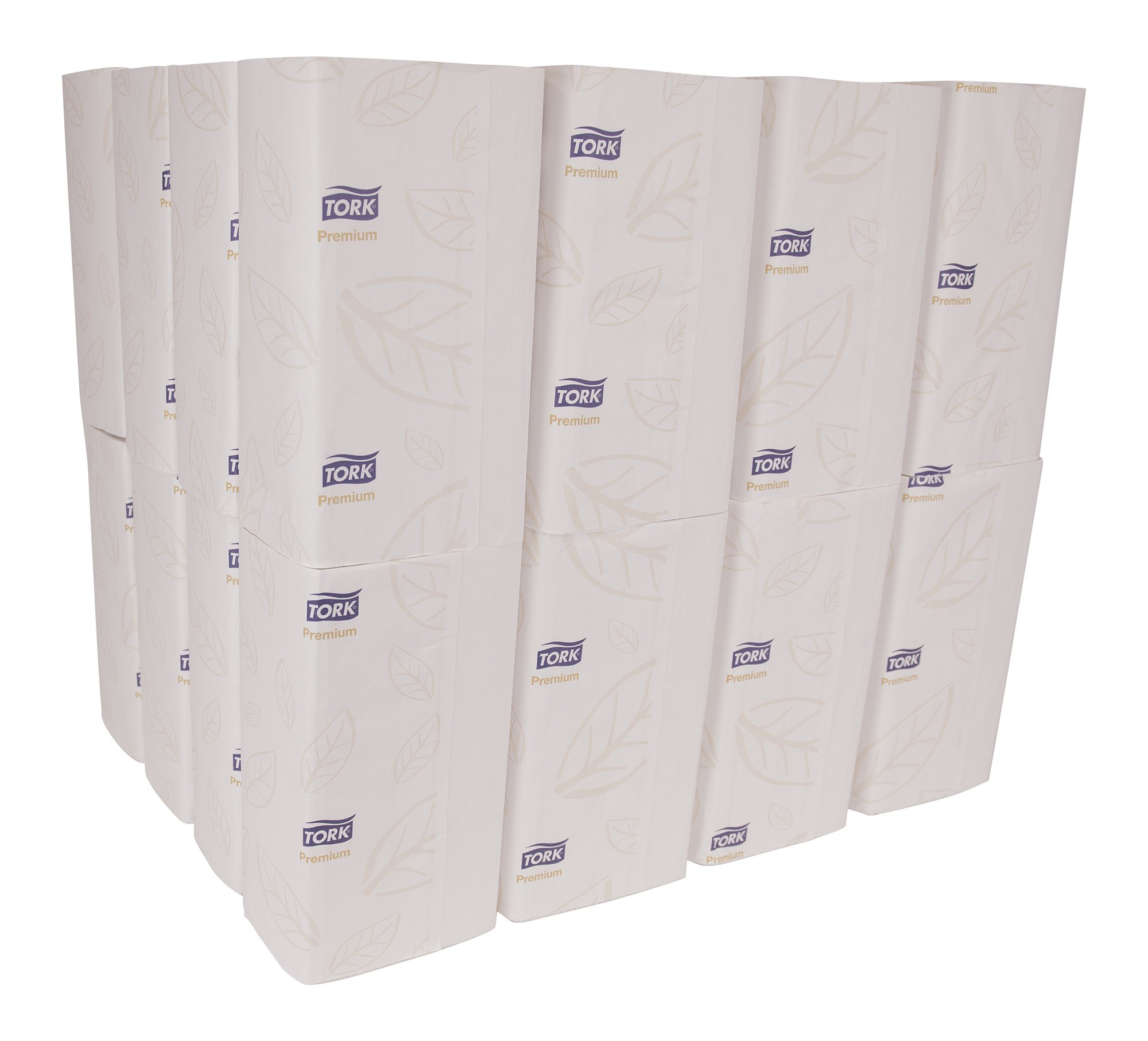 Tork Premium MB572 Soft Xpress Multifold Paper Hand Towel, 4-Panel, 2-Ply, 9.125'' Width x 3.625'' Length, White (Case of 32 Packs, 94 per Pack, 3,008 Towels) by Tork (Image #2)
