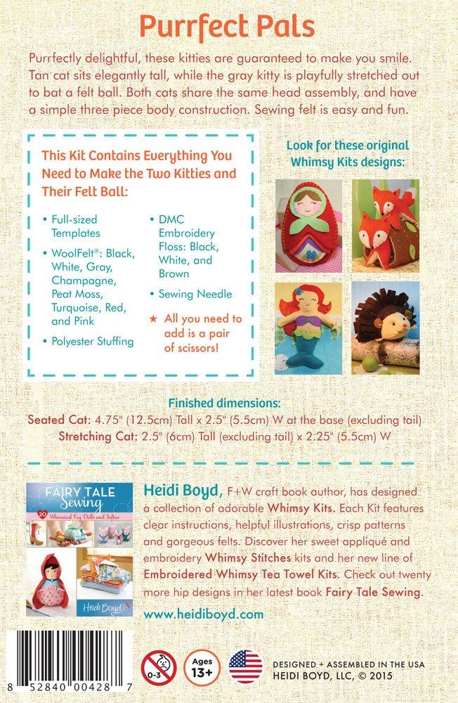 Heidi - Kit de costura de fieltro para niños de más de 13 años ...