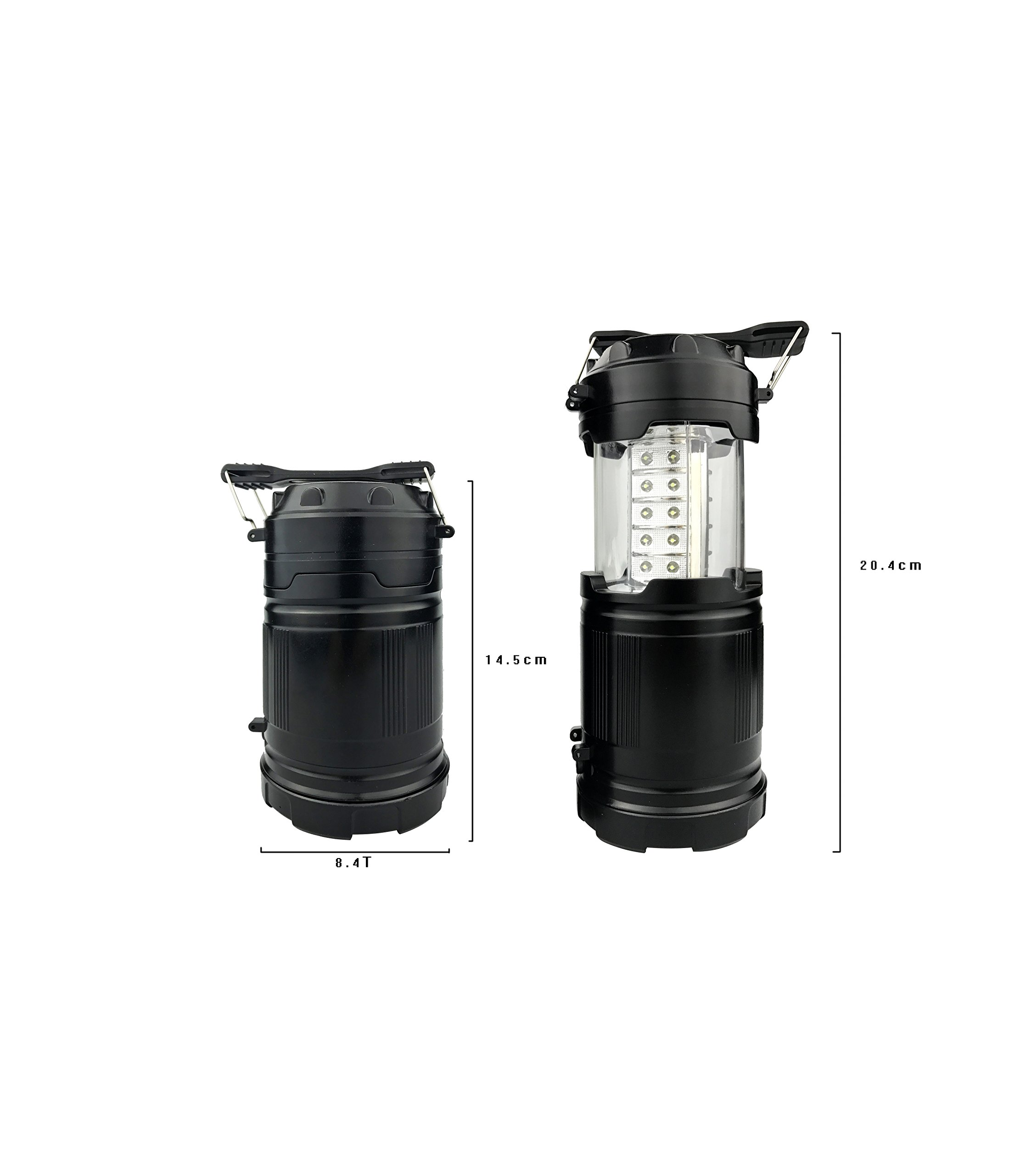 Windaze Camping Lantern 2 in 1 LED Flashlights Water Resistant Lamp Battery Powered Ultra- Bright Light for Hiking Fishing Emergency