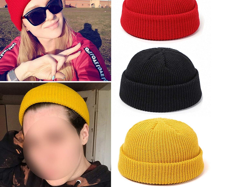 Ubiquity-Shop Women Skullcap Men Beanie Hat Winter Retro Brimless Baggy Melon Cap Cuff Docker Fisherman Beanies