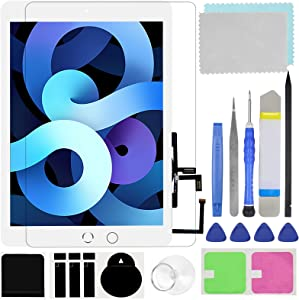Touch Screen Digitizer for iPad 5 2017 9.7 inch Generation A1822, A1823 Front Glass Replacement (with Tempered Glass Film,Tool Repair kit,with Home Button)
