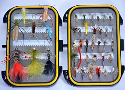 Nymph and Streamer Trout Fly Fishing Lure+fly box Must-have Dry Fly Wet Fly