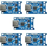 Diymore 5pcs TP4056 Type-C USB 5V 1A 18650 Lithium Battery Charger Module Charging Board with Dual Protection Functions