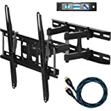 "Cheetah Mounts Dual Articulating Arm TV Wall Mount Bracket for 20-65"" TVs up to VESA 400 and 115lbs, Mounts on Studs up…"