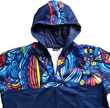 Mens Pullover Fleece Hoodies Bananas On The Blue Pattern Outer Jacket with Pockets