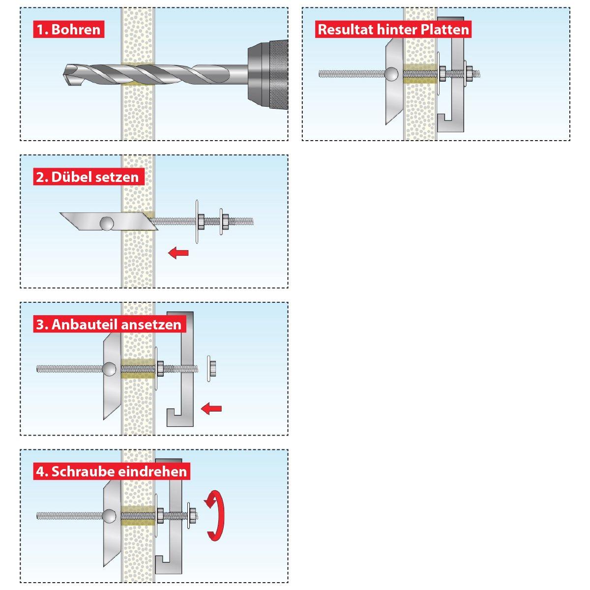 023100171 10 pieces TOX toggle plug Spagat Pro M8 mm