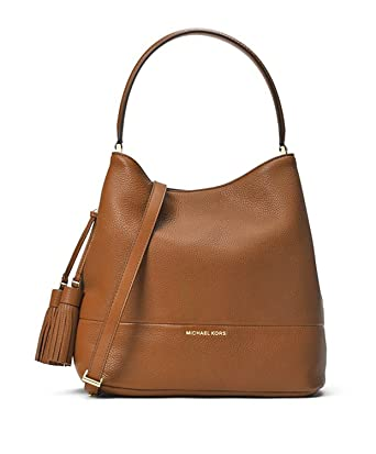 0a3ee1b93ea0 Image Unavailable. Image not available for. Color: MICHAEL Michael Kors  Womens Kip Genuine leather Pebbled Bucket Handbag Tan Large