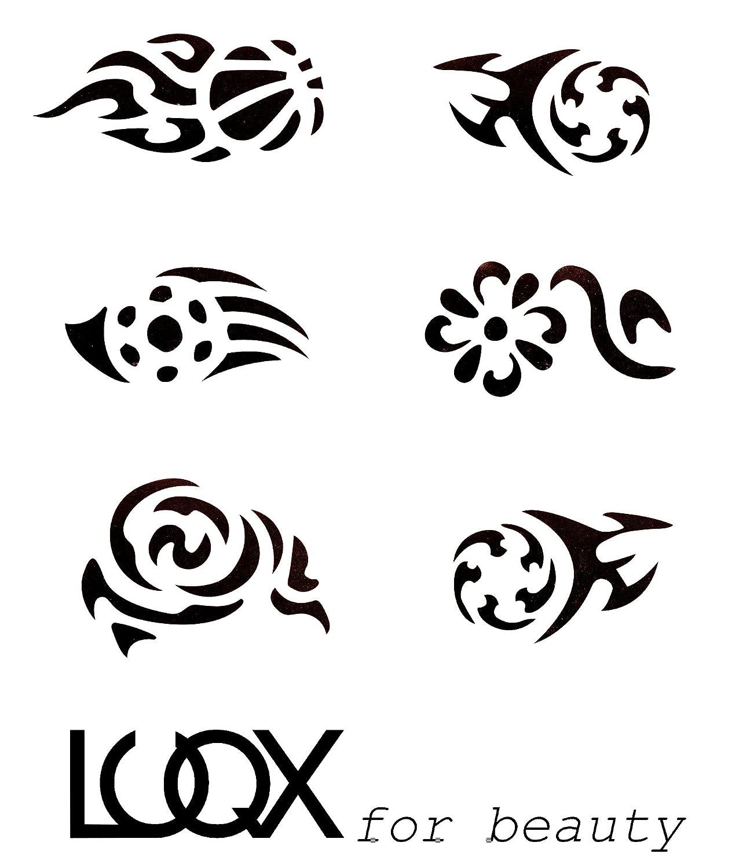 LUQX Tribal Schablone Hair Tattoo (1): Amazon.de: Beauty