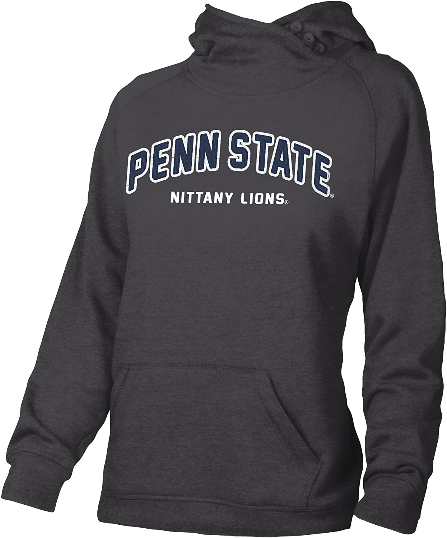 Charcoal Heather NCAA Penn State University W Asym Redux Hood Medium