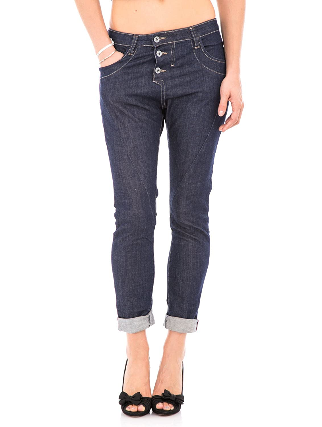 PLEASE - P78 jeans scuro da donna baggy