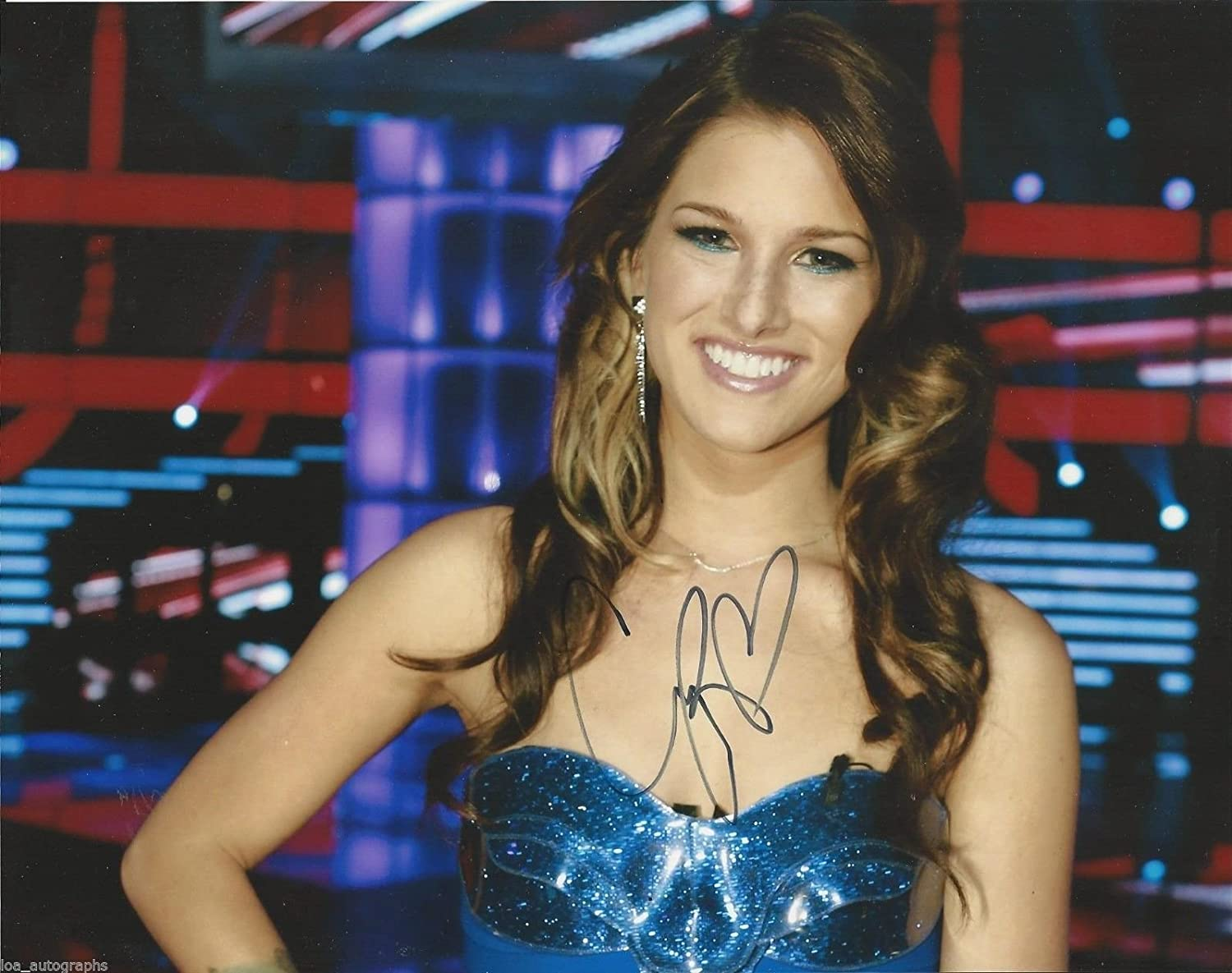 Cassadee Pope Real Hand Signed 8x10 Promo Photo 2 Hey Monday The