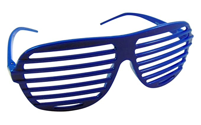 cae90f342d5 Amazon.com  Blue Shutter Shades Slotted Sunglasses Fashion Eyewear ...