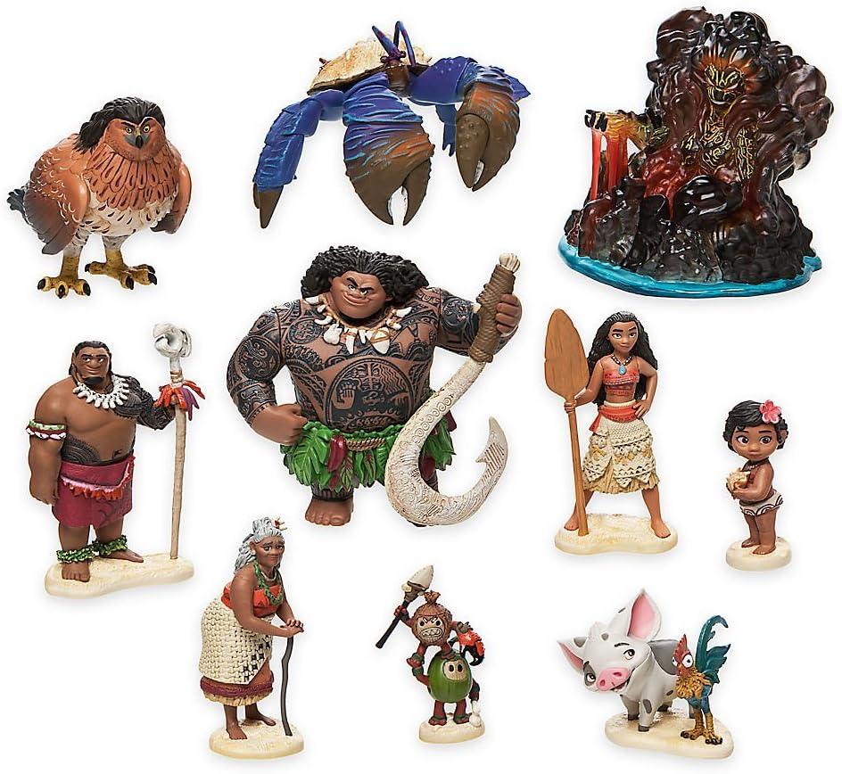 Disney Moana Vaiana Maui The Demigod Kakamora Adventure Playset Figure Toy
