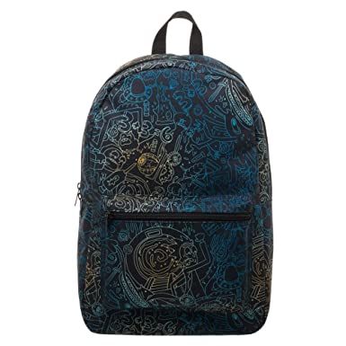 516535272a Bio World Merch Rick and Morty Trippy All Over Print Backpack