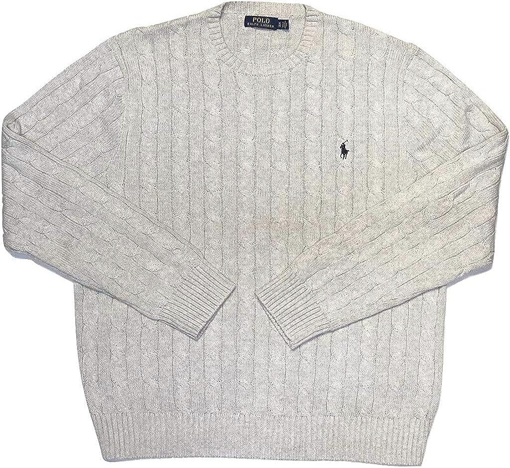 Polo Ralph Lauren Men's Pony Cable Knit Crewneck Sweaters