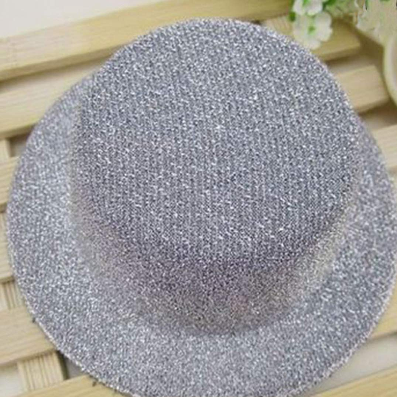 Glitter Mini Flat Top Hats for Women Fascinator Hats Party Felt Base Alligator Hair Clips