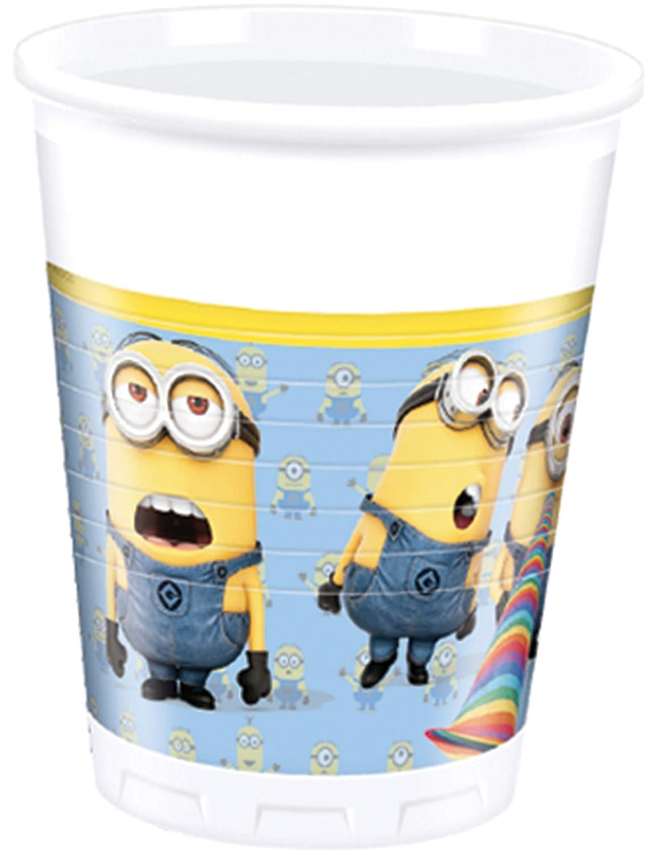 COOLMP - Lote de 12 Vasos de plástico Lovely Minions de 200 ...