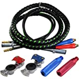 boeray 3 in 1 15 Ft Length Wrap Heavy Duty 7 Way Truck Tractor Trailer Rig Electric Cable Wrap Cord ABS & Air Line Hose…
