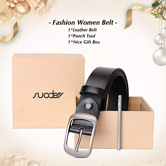 Fashion Women's Leather Belts for Jeans Pants with Metal Pin