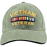 Buy Caps and Hats Vietnam Veteran Cap Military Vet Vintage Light OD Green Mens  Hat Olive b97ddc4958b5