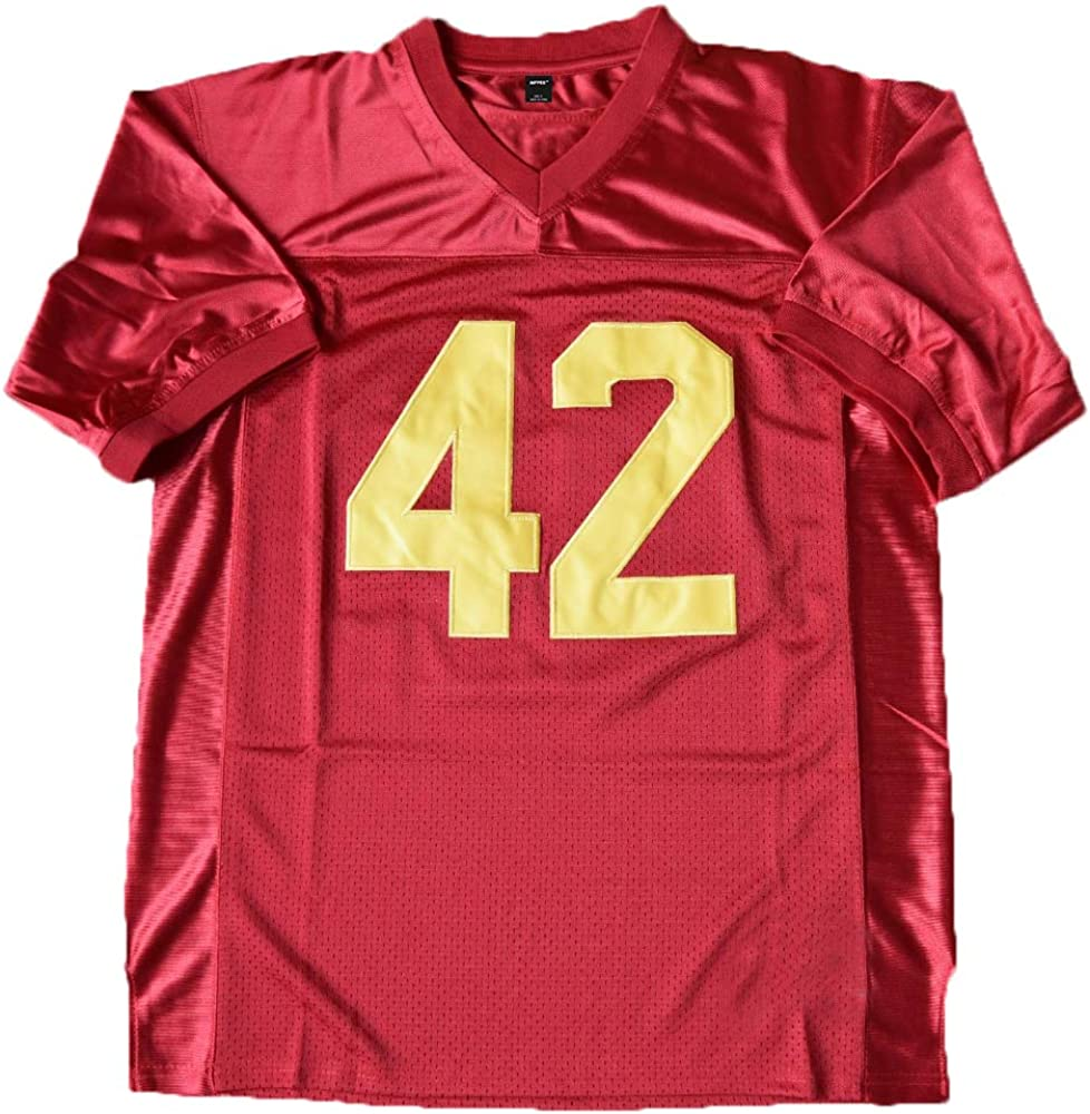 Mens #42 Ricky Football Jersey Red Color Stitched Number and Letters Size S 3XL