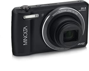 Minolta 20 Mega Pixels Wifi Digital Camera with 12x Optical Zoom & HD Video with 2.7-Inch LCD, Black (MN12Z-BK)