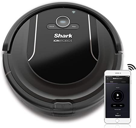 SHARK ION Robot Vacuum R85 WiFi-Connected with Powerful Suction, XL Dust Bin, Self-Cleaning Brushroll and Voice Control with Alexa or Google Assistant ...