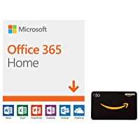 Microsoft Office 365 Home 12-mo Subscription Digital + $50 Gift Card