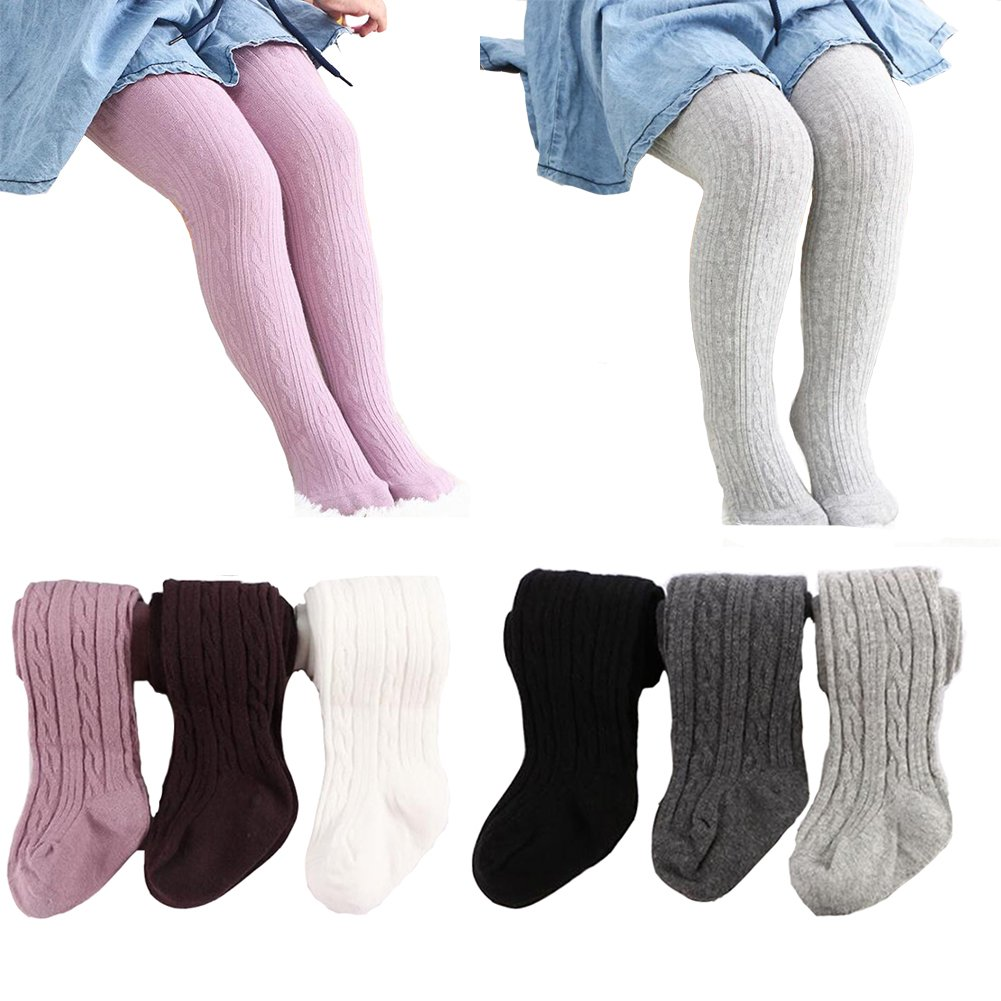6 Pack of Baby Infant Toddler Kids Girl Legging Pants Tights Stockings Zulaniu