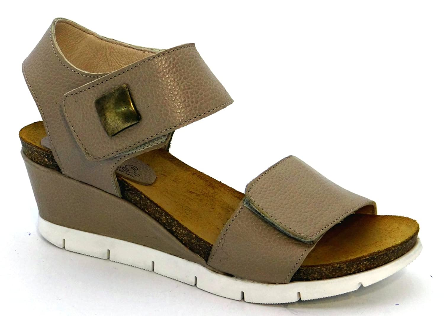 O.G.S. wide shoes OGSwideshoes Rimini Beige Extra Wide Fit Sandals 3E C D Width B07BTYDMYZ 11 3E (usD)