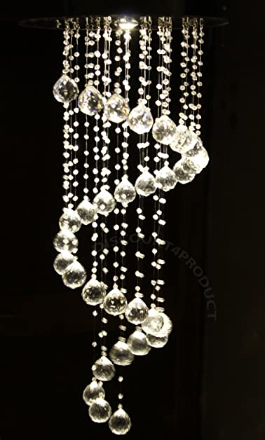 Buy discount4product modern ceiling light glass beads crystal discount4product modern ceiling light glass beads crystal pendant hanging chandelier aloadofball Choice Image