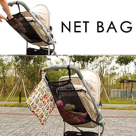 Bottle Diaper Storage Net Pocket Eternitry New Practical Baby Stroller Mesh Breathable Storage Bag