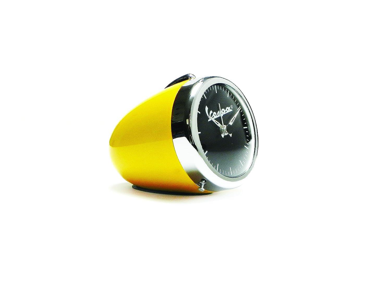 /Ø 70/mm Table Clock with Alarm Forme Vespa Vintage Look Headlight Yellow