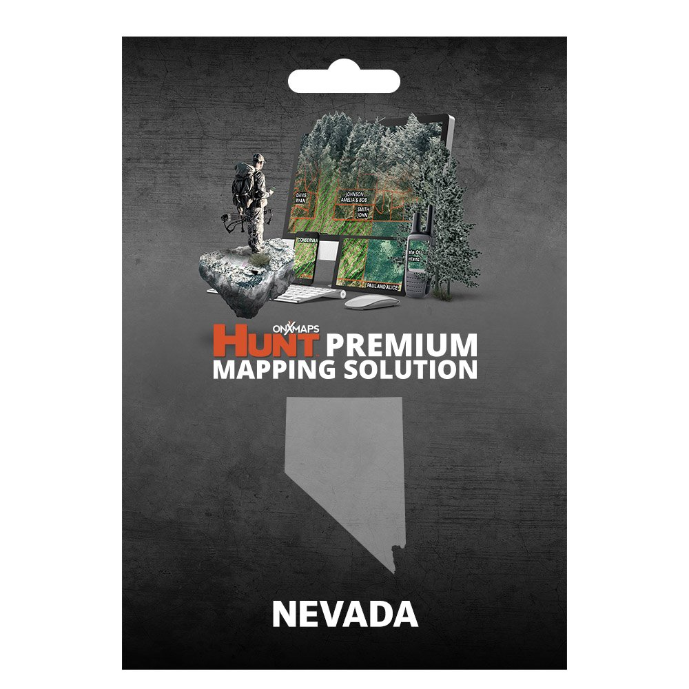 onXmaps HUNT Nevada: Digital Hunting Map For Garmin GPS + Premium Membership For Smartphone and Computer - Color Coded Land Ownership - 24k Topo - Hunting Specific Data