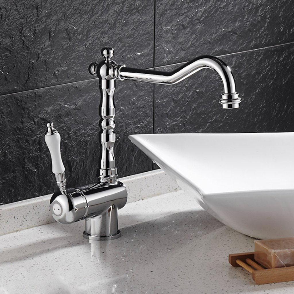 Daeou Home kreative Wasserhahn Waschbecken Wasserhahn drehbar heiß und kalt Wasserhahn