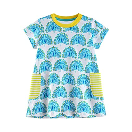 Vestido Niña, ❤️Xinantime Vestido de patrón de dibujos animados lindo bebé niño Ropa de