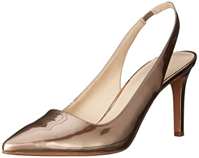 Nine West Women's Casablanc3 Pointed Toe Pumps, Light Natural Synthetic, ...