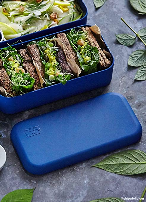 18,5 x 9,4 x 10 cm Color Azul Marino monbento Original Bento Box pl/ástico
