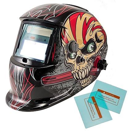 iMeshbean Solar Auto oscurecimiento soldadura casco arco/MIG/TIG Molienda Capucha Cool jugador diseño