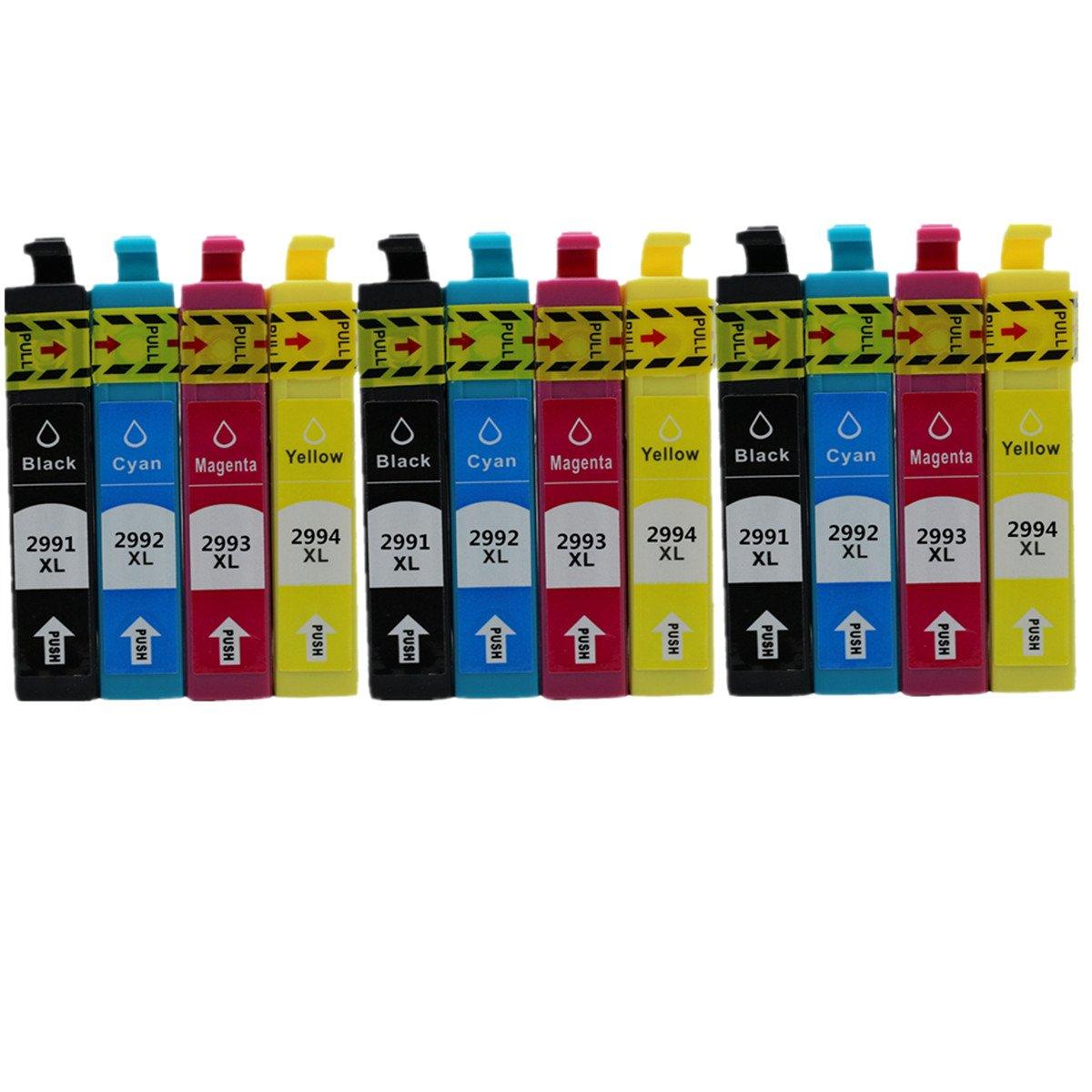 Juego de 3 Piezas de Repuesto para Epson Epson para Expression Home XP235 XP332 XP335 XP432 XP435 Impresora de inyección de Tinta (3 Negros, 3, Cian, Magenta, 3 Amarillos) 3553f7