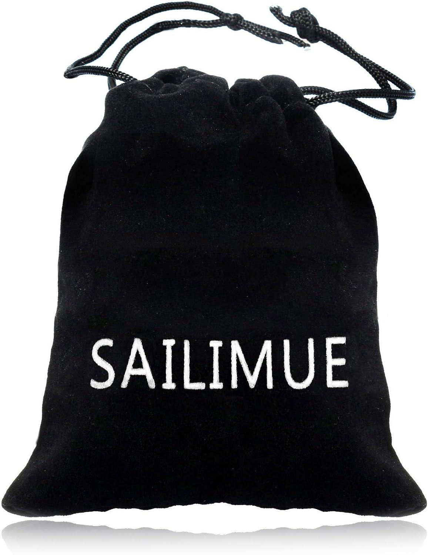 sailimue 2 PCS 6.5-8MM Acier Inoxydable Bracelet pour Homme Cha/îne Byzantine Bracelet Biker 20.5-23CM