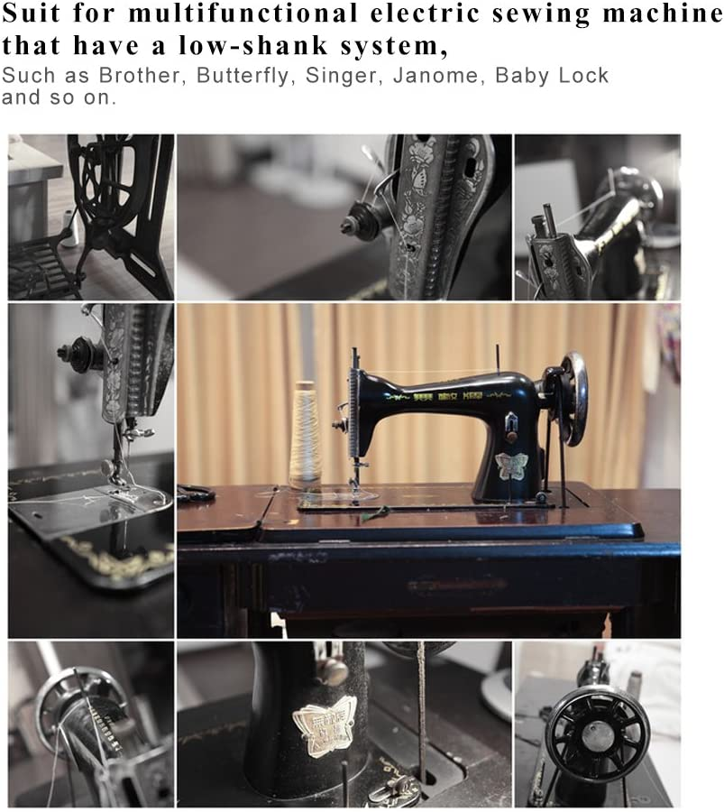 Máquina de coser Presser Foot Kit Hem Pies de repuesto Accesorios ...