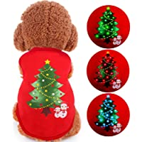oneisall LED Light up Dog Sweater for Christmas Pet Dogs Shirts Costume Clothes for Holiday Festival Party