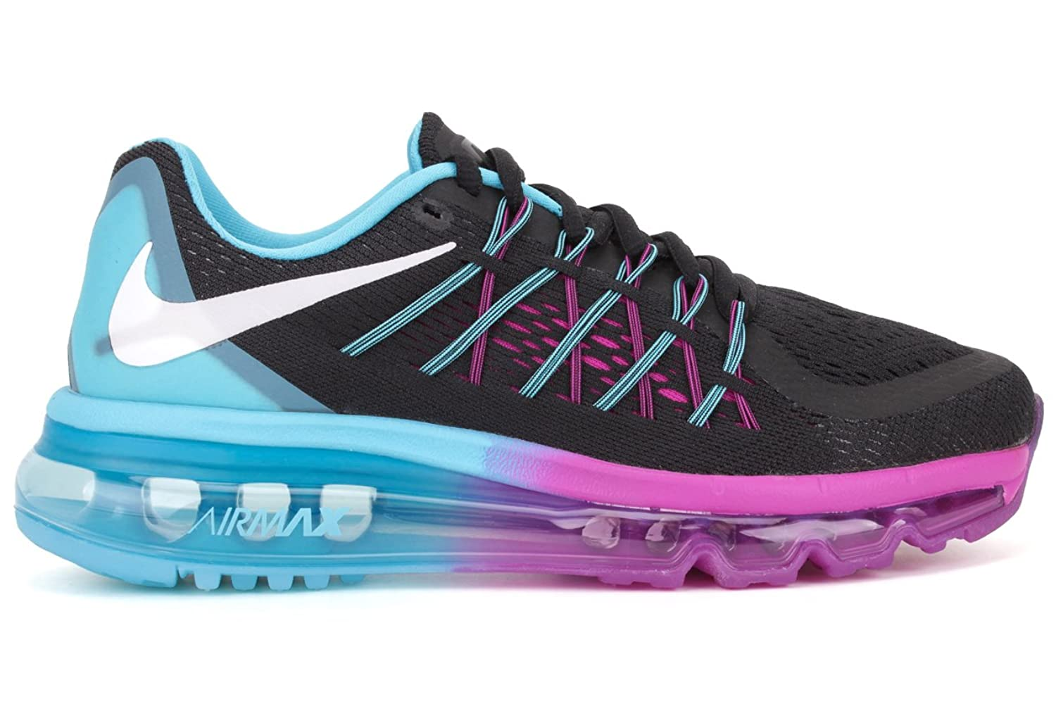 Nike Air Max 2015 Womens Running Shoes Pure Platinum/Green